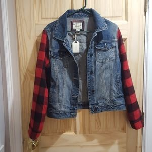 Forever 21 Los angeles jean flannel jacket